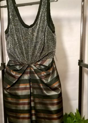 Короткое блестящее вечернее платье h&m