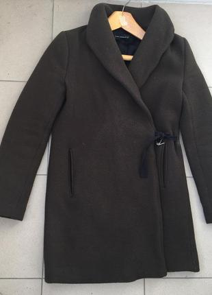 Пальто на запах zara xs/s оригинал