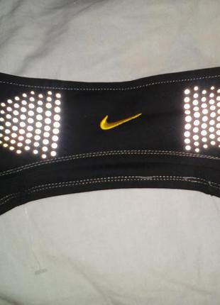 Повязка для бега nike с свето-отражателями уни-секс headband