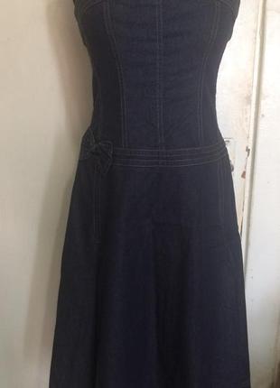 Джинсовое платье бьюстье