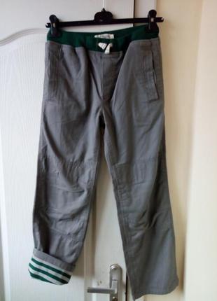 Теплые на подкладке штаны на мальчика 11 лет mini boden