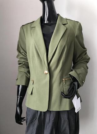 Костюм брючный (жакет пиджак) брюки высокая посадка бренда calvin klein размер l/хl