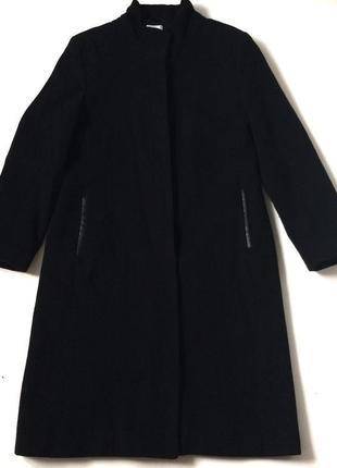 Шерстяне пальто прямого крою