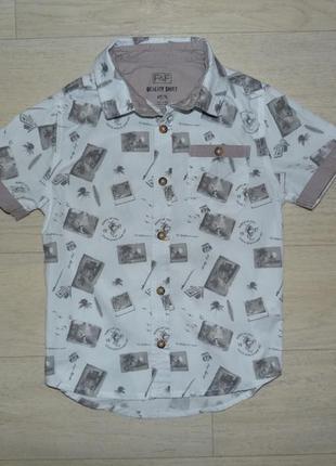 Рубашка f&f 5-6 лет