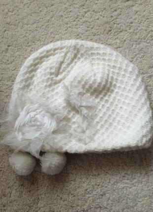 Белая шапочка betsey johnson, оригинал.