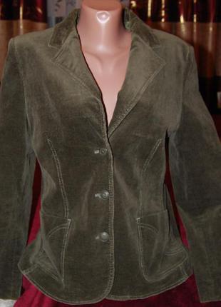 Очень красивый натуральный брендовый оливковый пиджак joy, пог 48см