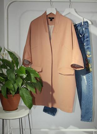Демисезонное легкое пальто кокон рукав 3/4 h&m размер l/40/12, можно xl.