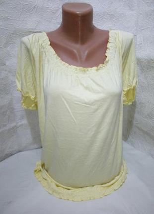 54 56 58 60 нежножелтая освежающая женская батальная футболка c&a