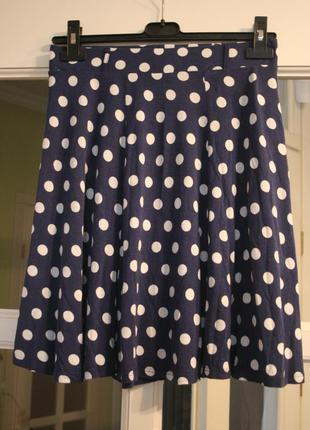 Синяя юбка солнце в горошек - s/m