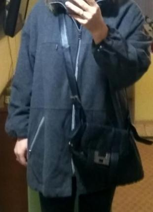 Шерстяное пальто бомбер, бойфренд, оверсайз на кулисках c&a