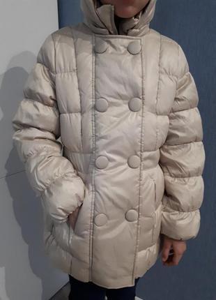 Зимнее куртка пальто пуховик benetton для девочки