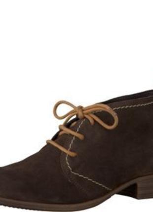 Р. 38- 25 см. tamaris натур. замша ботинки, дезерты, оригинал