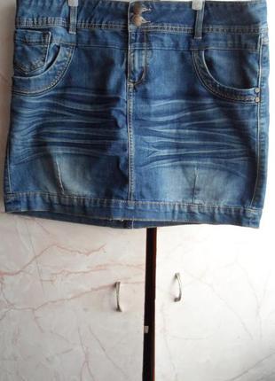 Оригинальная джинсовая юбка ! размер 44