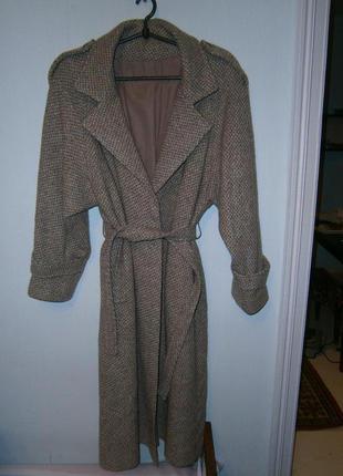 Шикарное стильное шерстяное пальто на запах