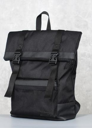 Черный городской рюкзак harvest - roll, black5