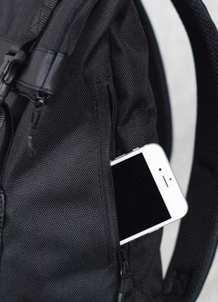 Черный городской рюкзак harvest - roll, black4