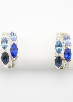 Невероятно красивые серьги с синими камнями океан