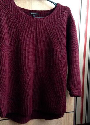 Тёплый свитер бордового цвета / цвета марсала от warehouse
