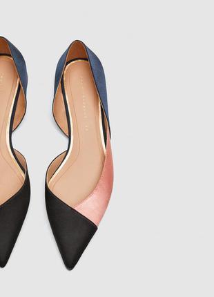 Туфли с бантом, на среднем каблуке zara