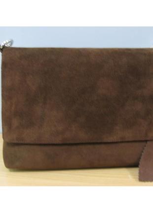 b935bbc68e85 Сумка - клатч замшевая коричневая - натуральная замш, цена - 900 грн ...