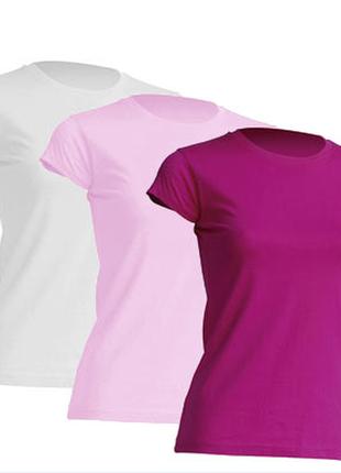 Комплект женских однотонных базовых футболок «3 в 1» 100% хлопок испания размеры