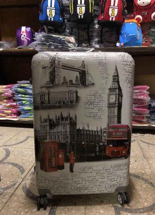 🔥 распродажа! 1шт! средний чемодан яркий  валіза середня пластикова