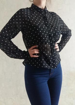 Рубашка в горошок сорочка блуза pimkie