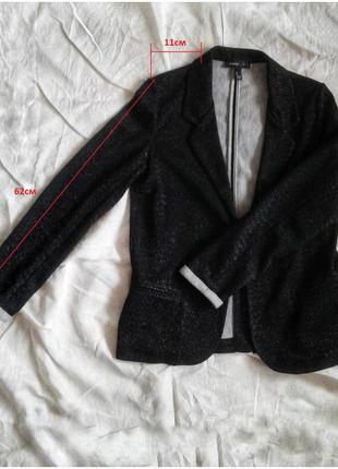 Lurex blazer mango | новый пиджак черный люрекс манго | блейзер | размер eur m