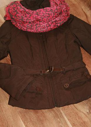 Теплая демисезонная стеганая куртка