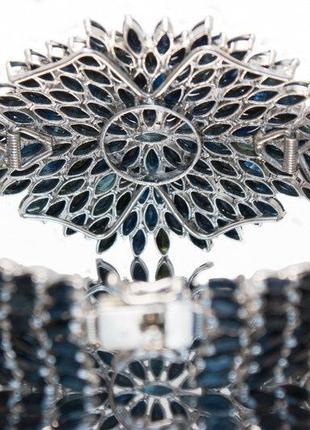 Сапфировый браслет серебро 925 проба .3 фото
