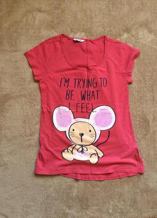 Прикольная футболка с принтом бэби мышонок