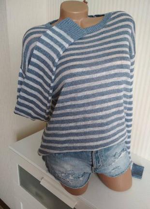 Лёгкий свитер из 100% льна