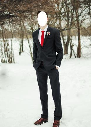 Сучасний чоловічий костюм (як новий!) шерсть 48р, 182ріст суперціна розпродаж