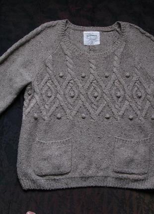 Теплый уютный свитер с узором