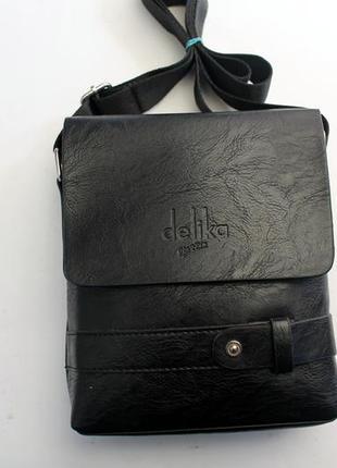 Барсетка, сумка через плечо, прессованная кожа, сумка