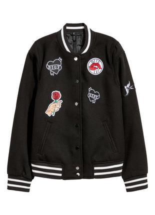 Куртка в бейсбольном стиле, 36-й (s), полиэстер 95%; вискоза 4%; эластан 1%