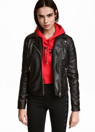 Байкерская куртка, 34-й (xs) -36р (s), полиэстер 100%