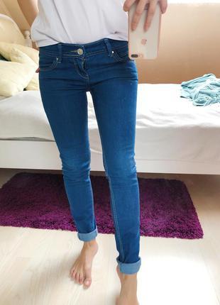 Скини джинсы в обтяжку синего цвета