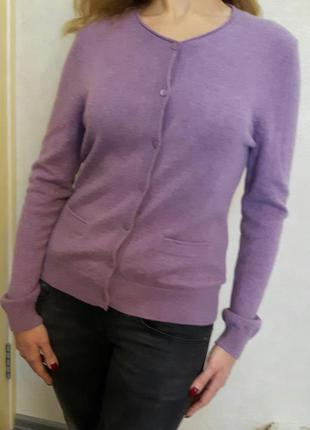 Стильный кашемировый свитер кардиган, 100% кашемир