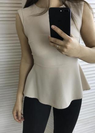 Блуза с баской new look