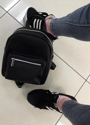 Суперский маленький женский рюкзак черный суперцена2