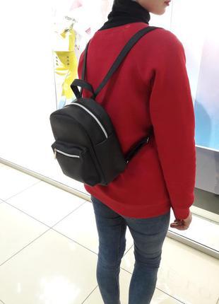Суперский маленький женский рюкзак черный суперцена1
