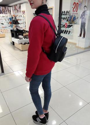 Суперский маленький женский рюкзак черный суперцена4