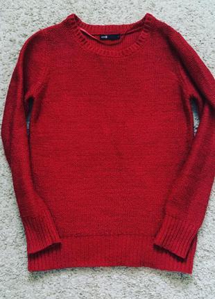 Красный милый свитерок из oggi в блестку