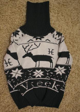 Теплый свитер с оленями bd9eb1c90995f
