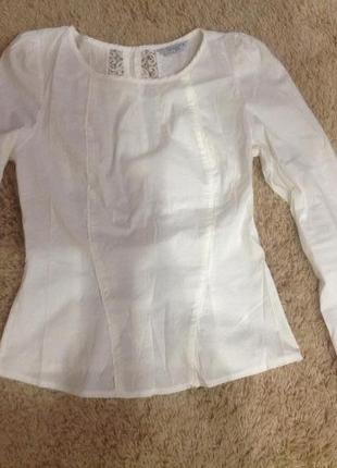"""Идеальная белая блузка """"дише"""" с оригинальной спинкой"""