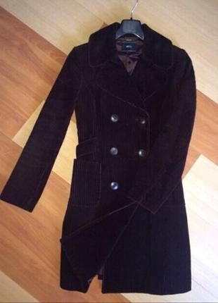 Пальто  mango плотный вельвет размер 38 (м)