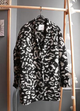 Бойфренд пальто mango с шерстью размер xs-s