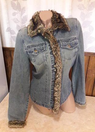 Джинсовка с мехом джинсовая курточка пиджак