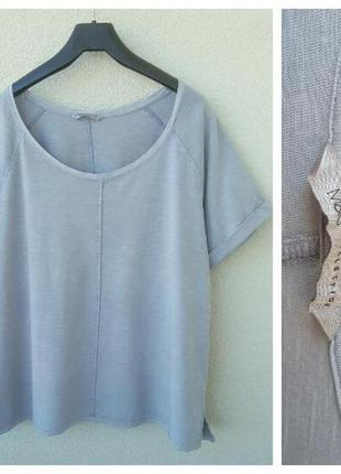 Качественая меланжевая  футболка серая от marks&spencer большого размера xxl-xxxl-xxxxl